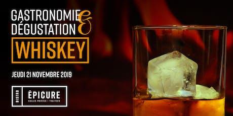Soirée découverte : whiskey et gastronomie tickets