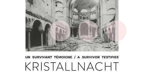Commémoration de Kristallnacht tickets