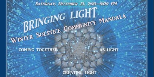 Bringing Light~Winter Solstice Community Mandala