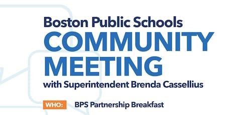 BPS Community Meeting: Partnership Breakfast tickets