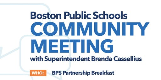 BPS Community Meeting: Partnership Breakfast