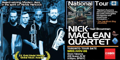 NICK MACLEAN QUARTET feat. BROWNMAN ALI (Toronto)