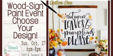 Choose Your Fall Design Paint Event tickets