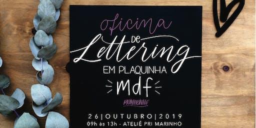 Oficina de Lettering em Plaquinha MDF