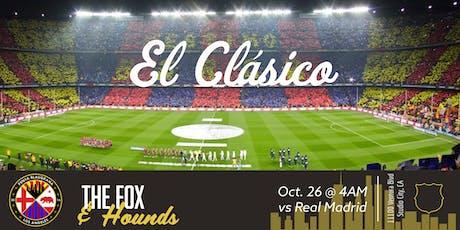 El Clásico Presented by: Penya Blaugrana Los Angeles + The Fox & Hounds tickets