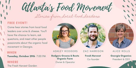 Atlanta's Food Movement: Stories From Local Food Leaders tickets