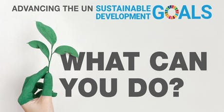 Advancing the UN Sustainable Development Goals – What can you do? tickets