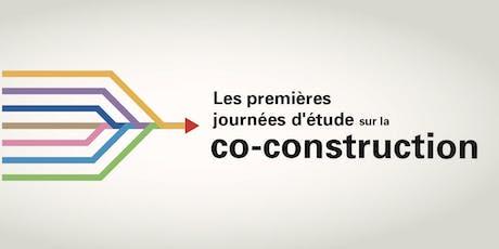 Journées d'étude sur la co-construction - Volet 1 billets