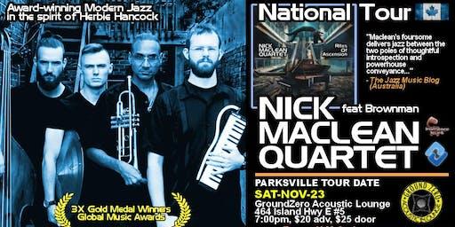 NICK MACLEAN QUARTET feat. BROWNMAN ALI (Parksville)