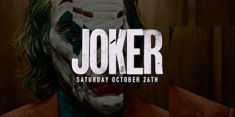 """a """"Joker"""" themed Halloween Party tickets"""
