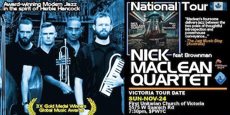 NICK MACLEAN QUARTET feat. BROWNMAN ALI (Victoria) tickets