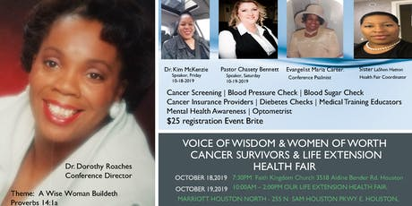Voice of Wisdom & Women of Worth Cancer Survivor Conference & Health Fair tickets