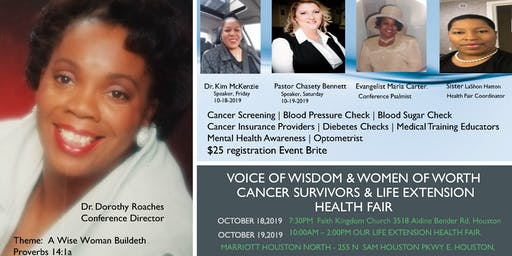 Voice of Wisdom & Women of Worth Cancer Survivor Conference & Health Fair