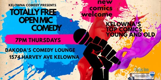 Totally Free Open Mic Comedy at Dakoda's