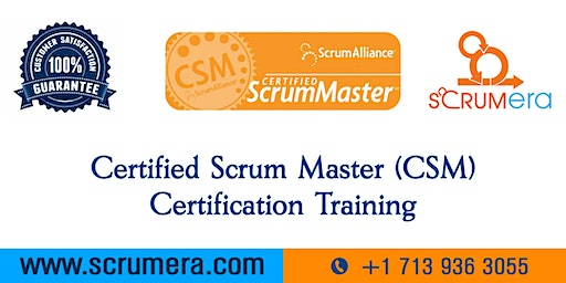 Scrum Master Certification | CSM Training | CSM Certification Workshop | Certified Scrum Master (CSM) Training in San Antonio, TX | ScrumERA