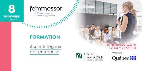 FORMATION | Aspects légaux de l'entreprise | Québec billets