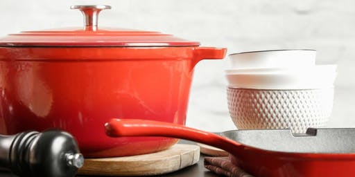 Cast Iron Cooking Demo with Le Creuset and Chef Jin