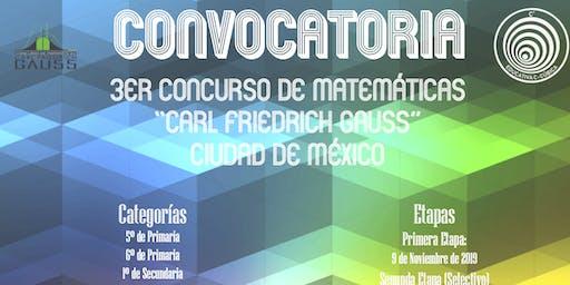 """3er Concurso de Matemáticas """"Carl Friedich Gauss"""""""