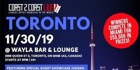 Coast 2 Coast LIVE Artist Showcase Toronto, CA - $50K Grand Prize tickets