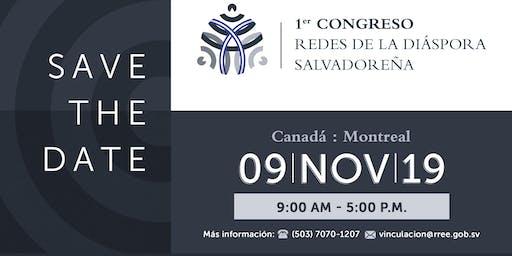 "Canadá: 1er. Congreso ""Redes de la Diáspora Salvadoreña"""