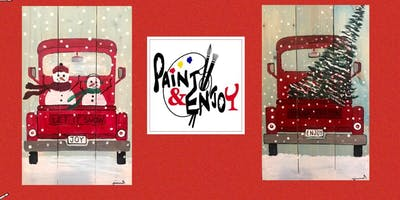 """Paint and Enjoy at Naylor Wine Shoppe """"Red Truck"""" on Wood"""