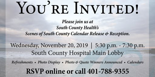 South County Health 2020 Calendar Reception