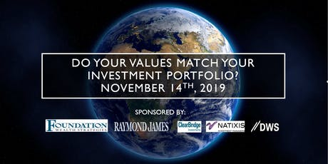 Do your values match your investment portfolio? tickets
