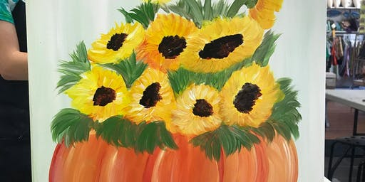 Fall Sunflower Painting Class