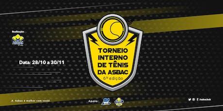 Torneio Interno de Tênis da Asbac - 6ª Edição ingressos