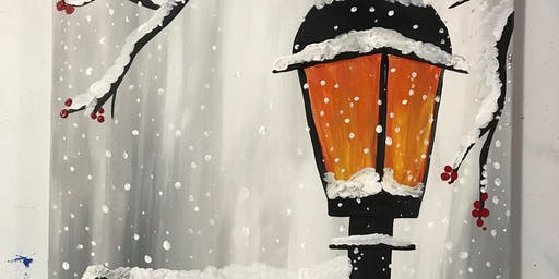 Snowy Lamp Post Painting Class