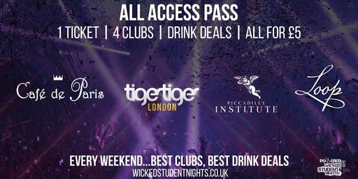 AAP – ALL ACCESS PASS CLUB CRAWL | 4 VENUES 1 TICKET