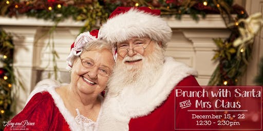 Christmas Brunch with Santa + Mrs Claus at The King and Prince (Dec 22)
