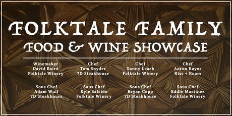 Folktale Family Food & Wine Showcase Dinner tickets