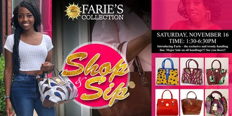 """Farie's Collection """"Shop & Sip"""" Pop Up Shop tickets"""