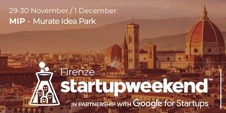 Techstars Startup Weekend Firenze biglietti