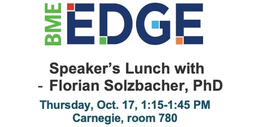 Speaker's Lunch with Florian Solzbacher, PhD