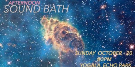 Afternoon Sound Bath with Nikki Caballero tickets