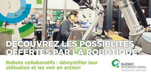 Robots collaboratifs : démystifier leur utilisation et les voir en action!