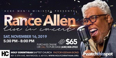 HCMB MEN PRESENTS RANCE ALLEN IN CONCERT