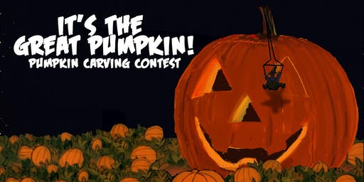 it's the  great pumpkin! pumpkin carving contest