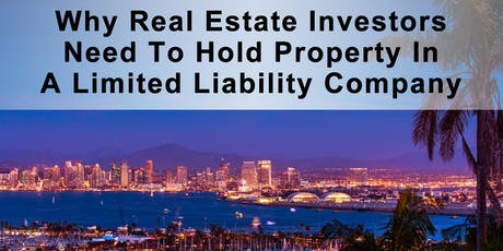 Why Real Estate Investors  Need To Hold Property In An LLC tickets