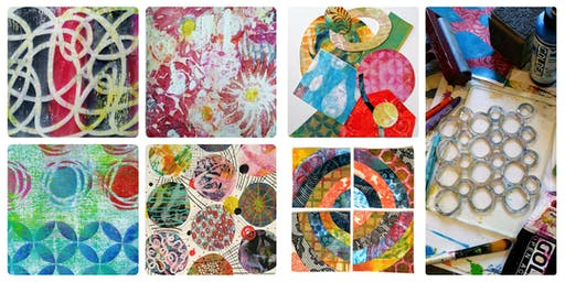 Explore Gel Prints and Collage