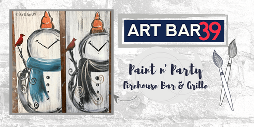 Wadena Public Event | Art Bar 39 Paint & Sip | Rustic Snowman on Wood