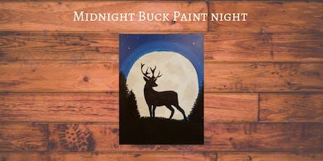 Midnight Buck Paint Night - at Fuzzy's Lounge tickets