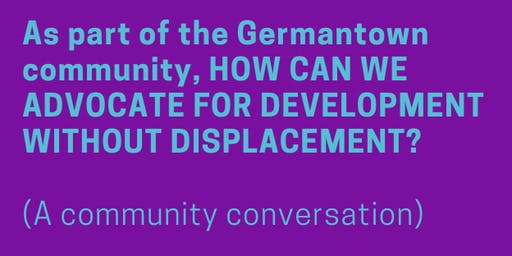 Advocating for development without displacement - a conversation