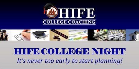 H.I.F.E College Coaching Night tickets