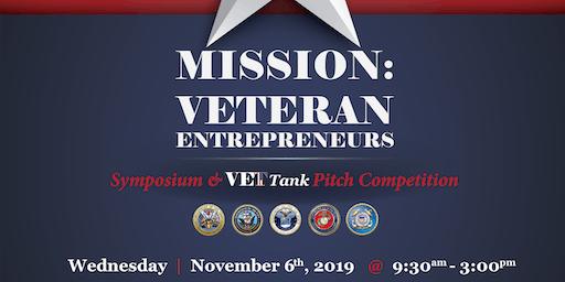 Mission: Veteran Entrepreneurs 2019 - Symposium & VetTank Pitch Competition