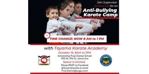 Anti-Bullying Karate Camp with Supervisor Andrew Do