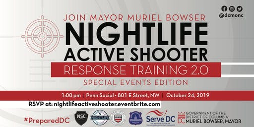 Join Mayor Muriel Bowser for Active Shooter Training 2.0