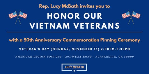 Vietnam War 50th Commemoration Pinning Ceremony
